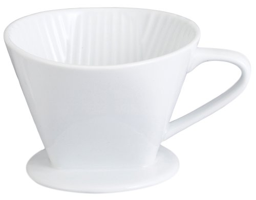 HIC Filter Cone, Porcelain, Number 4-Size Filter, Brews 8 to 12-Cups (Porcelain Coffee Cone compare prices)