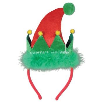 Santa's Helper Headband Party Accessory (1 count) (1/Pkg)