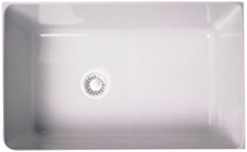 Rohl 6307-00 31-1/8-Inch by 19-5/8-Inch by 11 Inch, 31-Inch Single Bowl Allia Undermount Fireclay Kitchen Sink in White