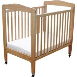L.A. Baby Arched Window Evacuation Crib With Dual Fixed Side Rails -- Mattress Included (L.A. Baby L front-508267