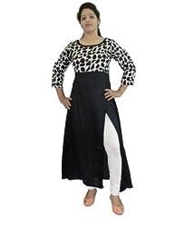 D-Nimes Women's 3/4 Sleeve Cotton Printed Kurti