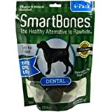 SmartBones Dental Rawhide Alternative Bone Dog Treat mini 14 oz bag 24 count