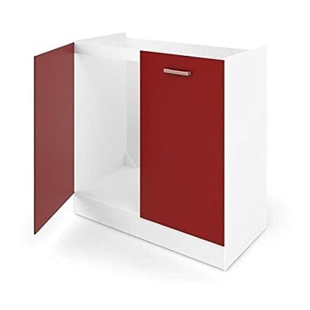 Carmen mueble bajo bajo fregadero 80cm rojo mate