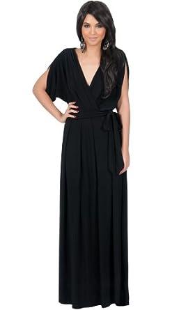 7609aa067f62 Koh Koh Women's Batwing Dolman Sleeve Maxi Dress