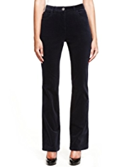 M&S Collection Cotton Rich Bootleg Corduroy Trousers