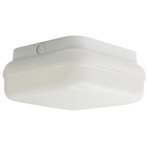 Sunlite 49010-SU LFX/DOD/PTS/WH/WH/40K Decorative Outdoor LED Protek Square Polycarbonate Fixture, White Finish, White Lens