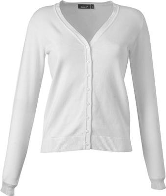 hanes damen ladies v neck cardigan strickjacke in weiss. Black Bedroom Furniture Sets. Home Design Ideas