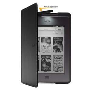 Amazon Kindle Touch Lederhülle mit Leseleuchte, Schwarz (nur geeignet für Kindle Touch)