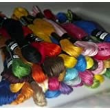 100 Thread Embroidery Cross Stitch Thread Floss/skeins With Needles WITH 10 NEEDLES FREE CROSS STITCH