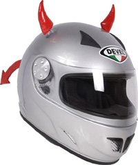 Crazy Ski Helmet Ears | Devil Horns & Tail - (Short or Long Tail) from Stiky Helmets Ltd