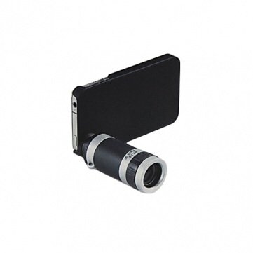 8X Zoom Telescope Lens Kit For Iphone 4 Or 4S And Camera Black