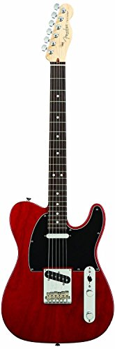 Fender American Standard Telecaster Electric Guitar, Rosewood Fingerboard, Crimson Red Transparent