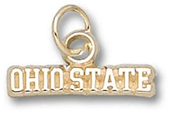 Ohio State Buckeyes Ohio State Charm - 14KT Gold Jewelry by Logo Art
