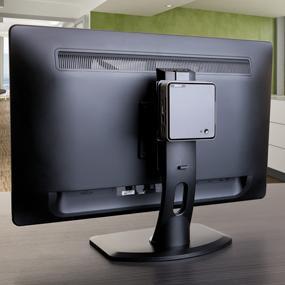 Mühelos mit einer VESA Halterung direkt an den Monitor montieren.
