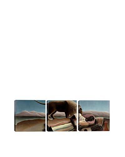 Henri Rousseau Sleeping Gypsy 1897 (Panoramic) 3-Piece Canvas Print