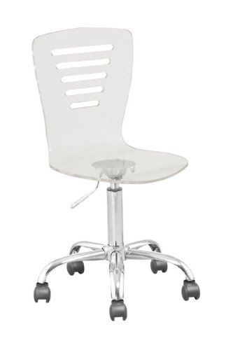 acrylic hydraulic lift adjustable height swivel office desk chair