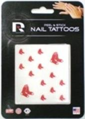 MLB Boston Red Sox Nail Tattoos