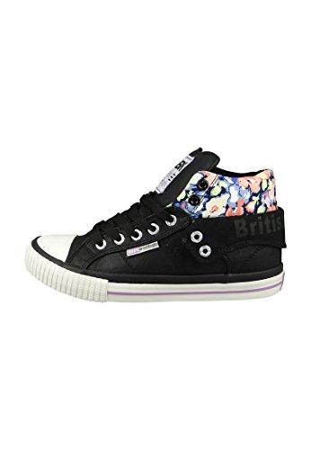 British Knights BK Sneaker B35-3736 03 Damen Roco Black Purple Neon Flower Schwarz, Groesse:37 EU / 4 UK / 5 US