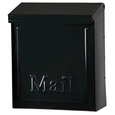Solar-Group-THVK0B0001-Wall-Mailbox-With-Lock-Vertical-Black-Galvanized-Steel