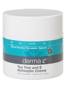Derma E Tea Tree and E Antiseptic Creme -- 4 oz