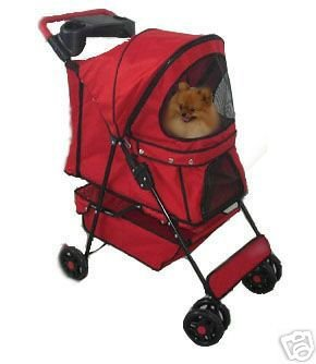 New Pet Travel Stroller Red Color (1203) front-601418