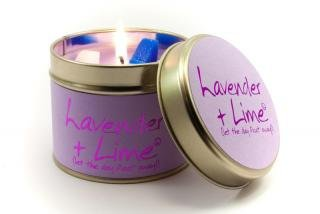 Lily Flame Candle Tin -lavender Lime-gift Emporium Lowest Price