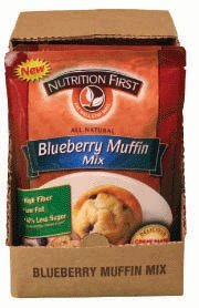 Nutrition First All Natural Blueberry Muffin Mix - Case of 6