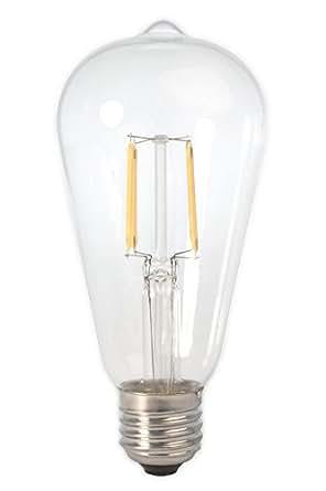 dc 12 volt warm white 2700k 6 watt led filament st64 light bulb e26 e27 medium base lamp low. Black Bedroom Furniture Sets. Home Design Ideas