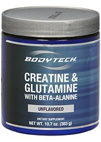 Bodytech - Creatine & Glutamine With Beta-Alanine, 10.7 Oz Powder