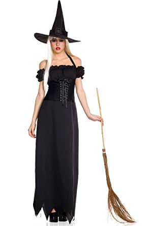Amazon.com: 2 PC. Long Off Shoulder Witch Dress - Small