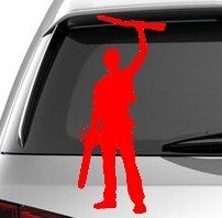 Ash Williams The Evil Dead Silhouette Car truck window Laptop Tablet Vinyl Cut Decal Sticker - RED (Toaster Cut compare prices)
