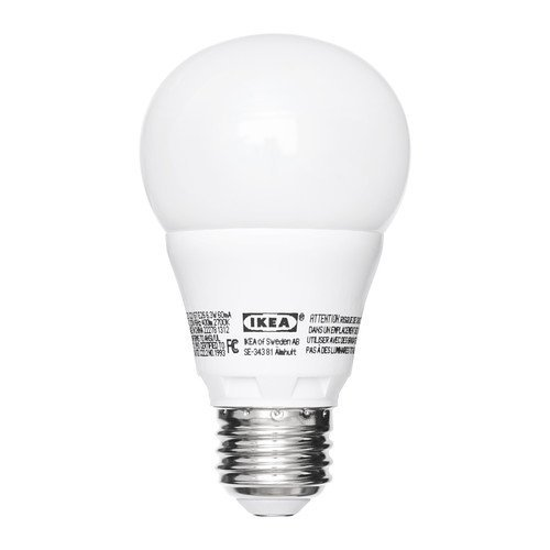 Ikea E26 Led Ledare 6.3 Watt 400Lm Dimmable Opaque