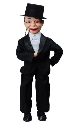 Charlie McCarthy Dummy Ventriloquist Doll Most Famous Celebrity Radio Personality Created by Edgar Bergen. Comes w/BONUS Book - How to Instructions to Learn Ventriloquism.