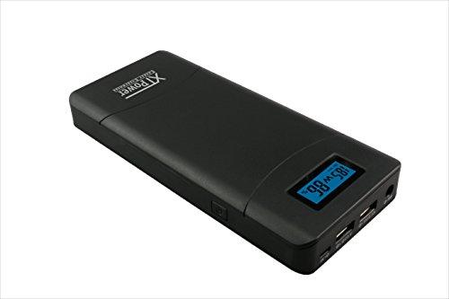 XTPower® XT-20000QC2 Powerbank - High Performance USB e DC Batteria con 20400mAh - 1x USB 2.1, 1x USB QC2 e uscita DC 12V/16.5V/19V/20V/24V 65W max.