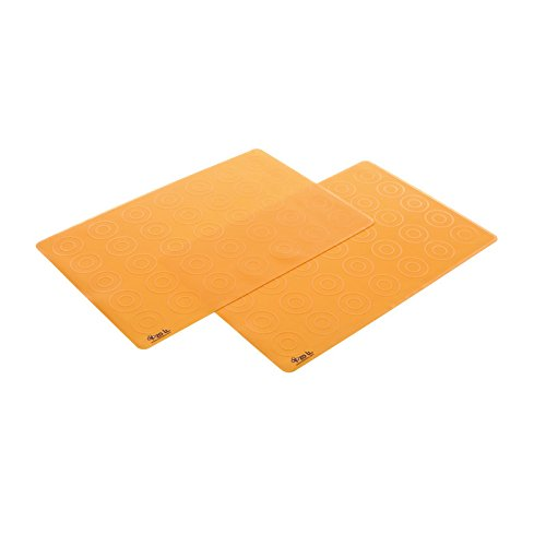 Zoli Baby Matties Silicone Travel Mats - Orange - 2 ct