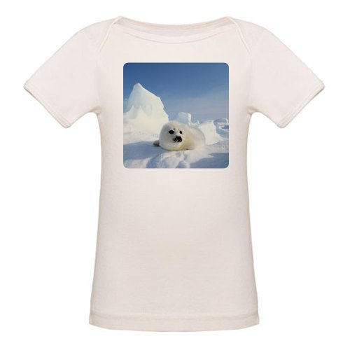 Artsmith, Inc. Organic Baby T-Shirt Harp Seal - 3 to 6 Months