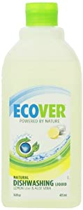 Ecover Dishwashing Liquid, Lemon, 16-Ounce Bottle (Pack of 12)