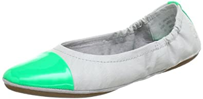 Bugatti J06767, Damen Ballerinas, Grau (hellgrau/ neon grün 179), EU 38
