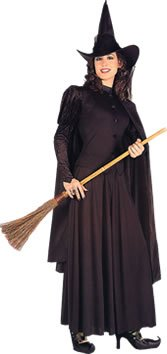 Ladies Halloween Witch Fancy Dress Costume Outfit New - Standard 10-14