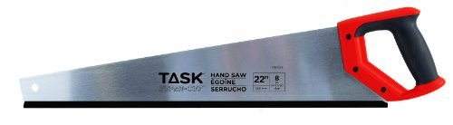 Task Tools T88022  22-Inch  8-Point Super Cuts Handsaw,  Rubber Grip