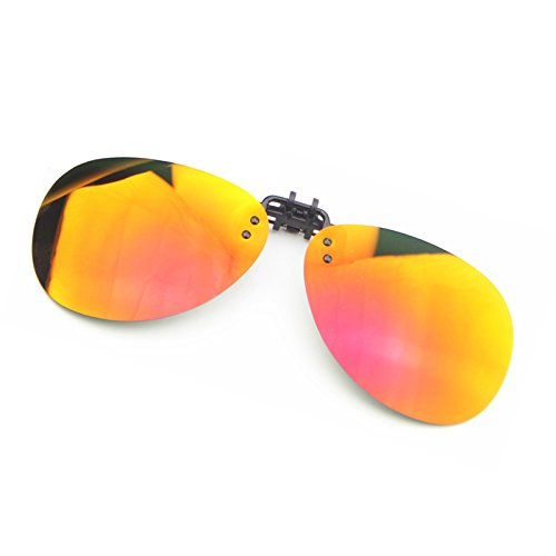Cyxus Flash Aviator Occhiali da sole Lenti Polarizzate A Specchio classico Clip-on prescrizione Occhiali Protezione UV [Anti-Glare] [] guida/Pesca Eyewear, Uomo E Donna, Gold