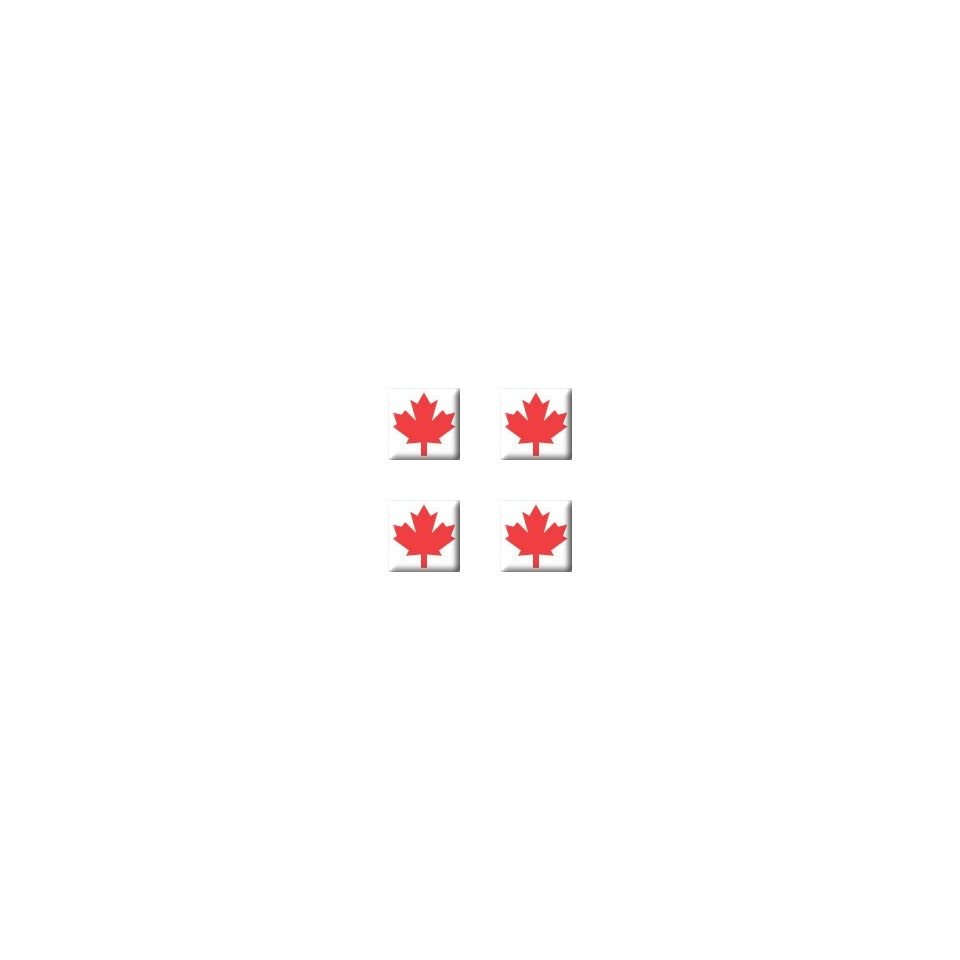 Canada Maple Leaf   Set of 4 Badge Stickers