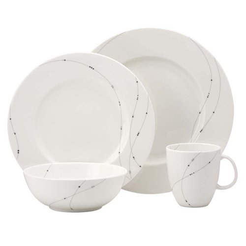 Lenox Simply Fine Twirl 4 Piece Place Setting