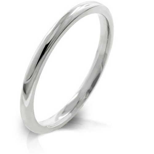 High Polished Stainless Steel 2mm Eternity Wedding Band Ring (8)