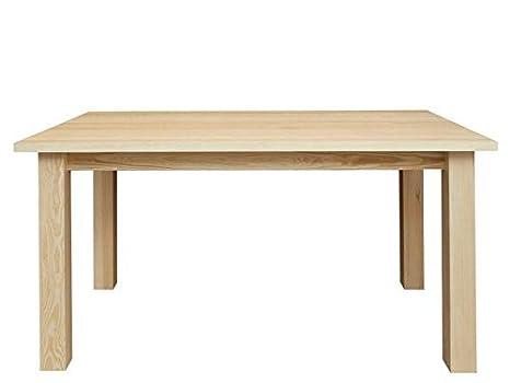 Massivholz Tisch 100x160 cm Kiefer, Farbe: Natur