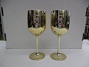 set-of-2-moet-chandon-imperial-dom-perignon-champagne-gold-golden-acrylic-goblets-flutes-glasses