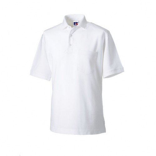 Russell Workwear Mens Heavy Duty Short Sleeve Polo Shirt (XS) (Light Oxford)