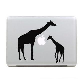 MacBook 対応 アートステッカー☆ - Giraffe Family - (17-inch) 【並行輸入品】