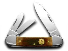 CANAL STREET Brown Bone Canoe 1/100 SFO Pocket Knife Knives