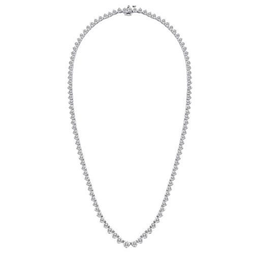 13.50 CT F/VS-1 Round Natural Diamond Necklaces 